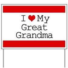 I Heart My Great Grandma Yard Sign