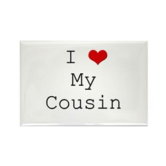 I Heart My Cousin Rectangle Magnet (10 pack)