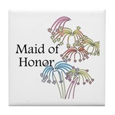 Fireworks Maid of Honor Tile Coaster
