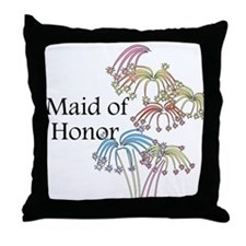 Fireworks Maid of Honor Throw Pillow