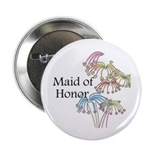 "Fireworks Maid of Honor 2.25"" Button"