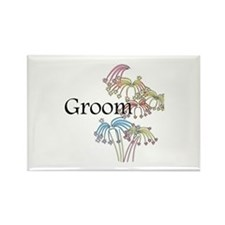 Fireworks Groom Rectangle Magnet (10 pack)