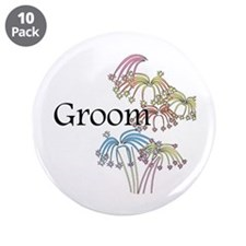 """Fireworks Groom 3.5"""" Button (10 pack)"""