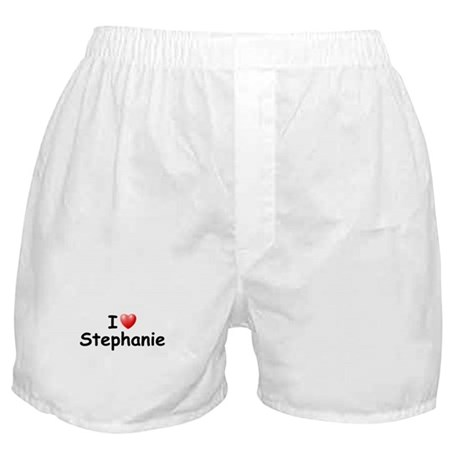 I Love Stephanie (Black) Boxer Shorts
