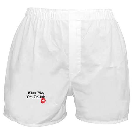 Kiss Me, I'm Polish Boxer Shorts