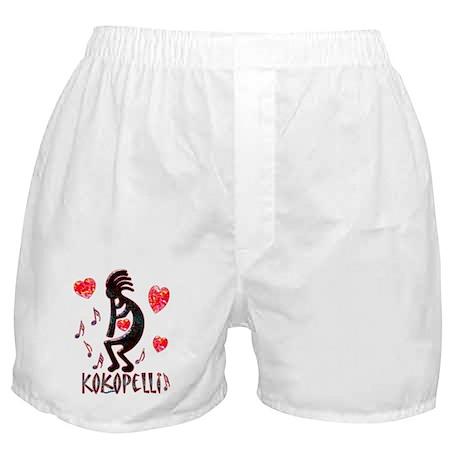 Kokopelli with Hearts Boxer Shorts