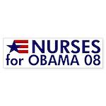 Nurses for Obama 08 Bumper Sticker