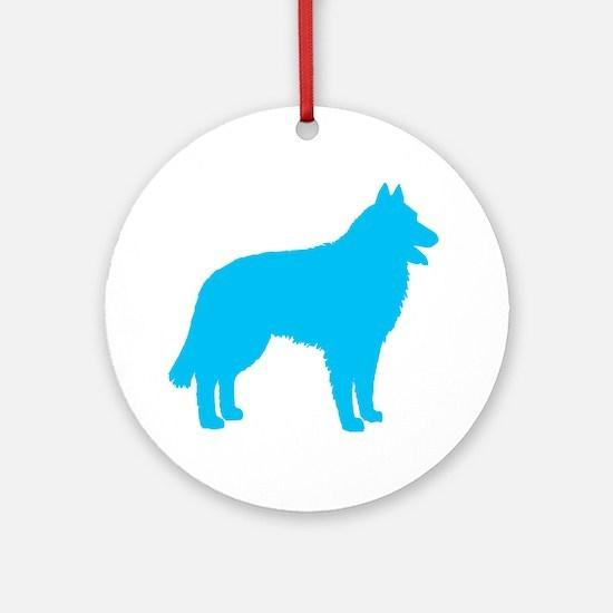 Blue Belgian Sheepdog Ornament (Round)