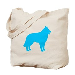 Blue Belgian Sheepdog Tote Bag
