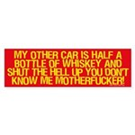 Half a Bottle of Whiskey sticker