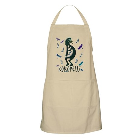 Kokopelli with Musical Notes BBQ Apron