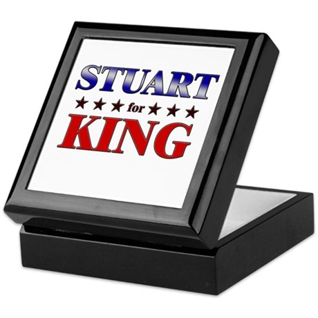 STUART for king Keepsake Box