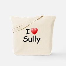I Love Sully (Black) Tote Bag