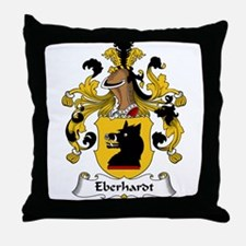 Eberhardt Family Crest Throw Pillow