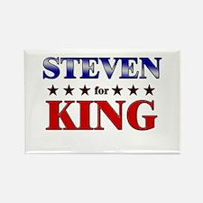 STEVEN for king Rectangle Magnet