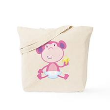 Pink Baby Monkey Tote Bag