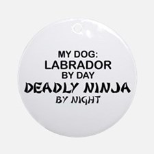 Lab Deadly Ninja by Night Ornament (Round)