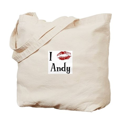 I Kissed Andy Tote Bag