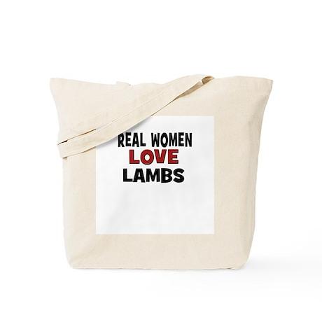 Real Women Love Lambs Tote Bag