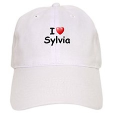 I Love Sylvia (Black) Baseball Cap