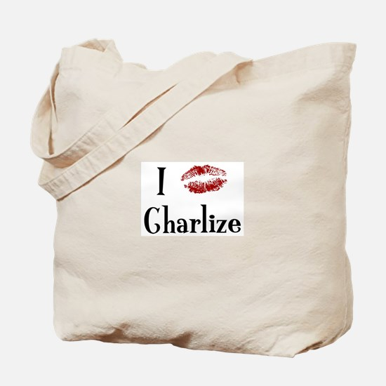 I Kissed Charlize Tote Bag