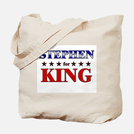 STEPHEN for king Tote Bag
