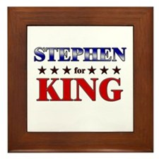 STEPHEN for king Framed Tile
