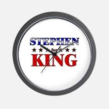 STEPHEN for king Wall Clock