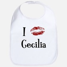 I Kissed Cecilia Bib