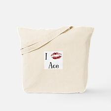 I Kissed Ace Tote Bag