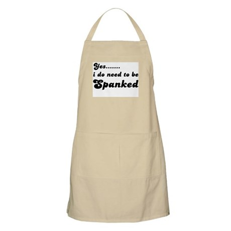 Need to bespanked BBQ Apron