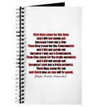 Pastor Niemoller Quote Journal