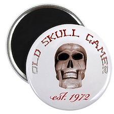 Old Skull Gamer Magnet