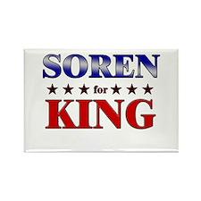 SOREN for king Rectangle Magnet