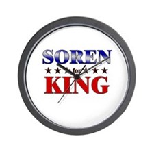 SOREN for king Wall Clock