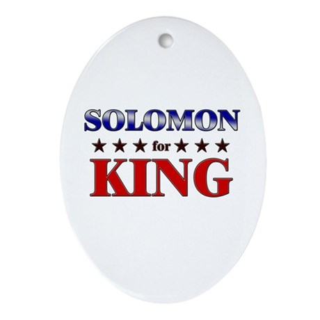 SOLOMON for king Oval Ornament
