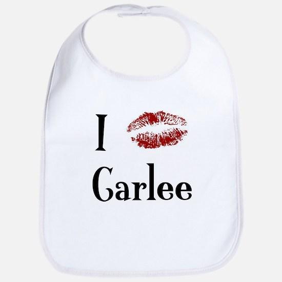 I Kissed Carlee Bib