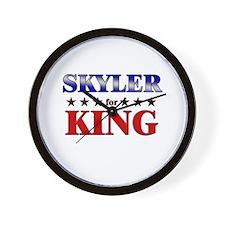 SKYLER for king Wall Clock