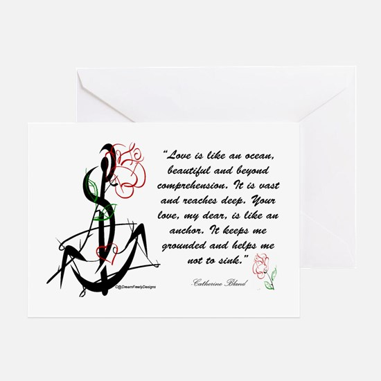 Love is an Anchor Greeting Card