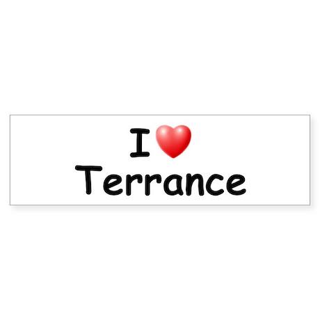 I Love Terrance (Black) Bumper Sticker
