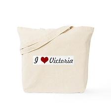 I love Victoria Tote Bag