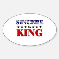 SINCERE for king Oval Decal