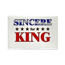 SINCERE for king Rectangle Magnet