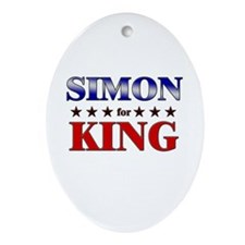 SIMON for king Oval Ornament