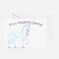 Magic Unicorn Birthday Party Invitation Card