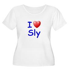 I Love Sly (Blue) T-Shirt