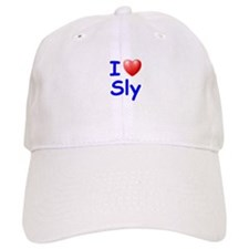 I Love Sly (Blue) Baseball Cap