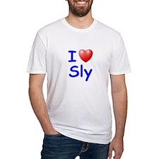 I Love Sly (Blue) Shirt
