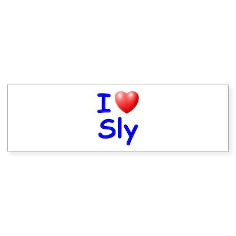 I Love Sly (Blue) Bumper Sticker
