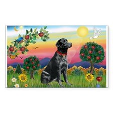 Bright Country & Black Lab Rectangle Decal